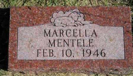 MENTELE, MARCELLA - Hanson County, South Dakota | MARCELLA MENTELE - South Dakota Gravestone Photos