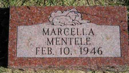 MENTELE, MARCELLA - Hanson County, South Dakota | MARCELLA MENTELE - South Dakota Gravestone Photos