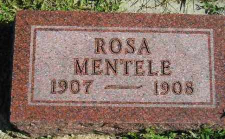 MENTELE, ROSA - Hanson County, South Dakota   ROSA MENTELE - South Dakota Gravestone Photos