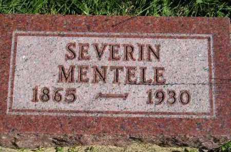 MENTELE, SEVERIN - Hanson County, South Dakota | SEVERIN MENTELE - South Dakota Gravestone Photos