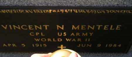 MENTELE, VINCENT N. (WW II) - Hanson County, South Dakota | VINCENT N. (WW II) MENTELE - South Dakota Gravestone Photos