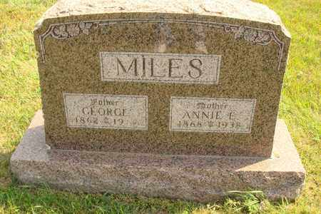 MILES, GEORGE - Hanson County, South Dakota | GEORGE MILES - South Dakota Gravestone Photos