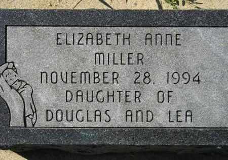 MILLER, ELIZABETH ANNE - Hanson County, South Dakota   ELIZABETH ANNE MILLER - South Dakota Gravestone Photos