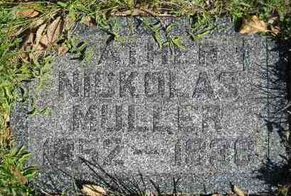 MULLER, NICKOLAS - Hanson County, South Dakota | NICKOLAS MULLER - South Dakota Gravestone Photos
