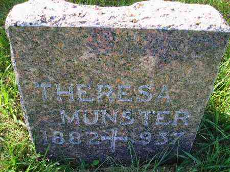 MUNSTER, THERESA - Hanson County, South Dakota | THERESA MUNSTER - South Dakota Gravestone Photos
