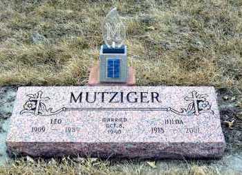 MUTZIGER, LEO - Hanson County, South Dakota | LEO MUTZIGER - South Dakota Gravestone Photos