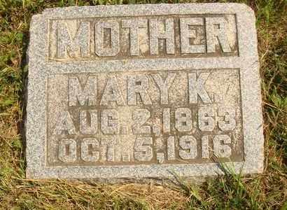 NOONER, MARY K. - Hanson County, South Dakota   MARY K. NOONER - South Dakota Gravestone Photos