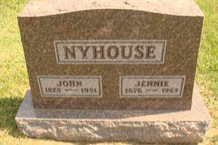 NYHOUSE, JENNIE - Hanson County, South Dakota | JENNIE NYHOUSE - South Dakota Gravestone Photos