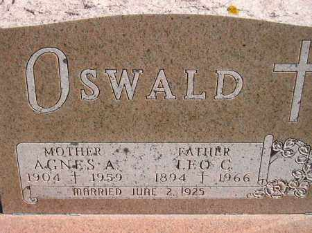 OSWALD, AGNES A. - Hanson County, South Dakota | AGNES A. OSWALD - South Dakota Gravestone Photos