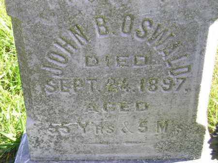 OSWALD, JOHN B. - Hanson County, South Dakota   JOHN B. OSWALD - South Dakota Gravestone Photos