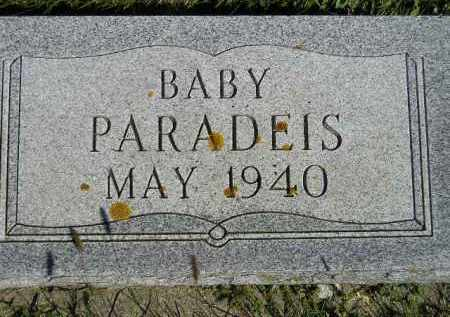 PARADEIS, BABY - Hanson County, South Dakota | BABY PARADEIS - South Dakota Gravestone Photos