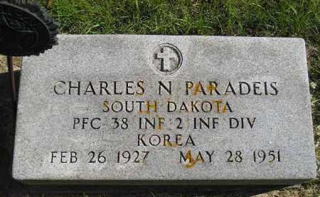 PARADEIS, CHARLES N. - Hanson County, South Dakota | CHARLES N. PARADEIS - South Dakota Gravestone Photos