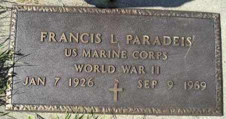 PARADEIS, FRANCIS L. (WW II) - Hanson County, South Dakota | FRANCIS L. (WW II) PARADEIS - South Dakota Gravestone Photos