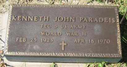 PARADEIS, KENNETH JOHN (WW II) - Hanson County, South Dakota | KENNETH JOHN (WW II) PARADEIS - South Dakota Gravestone Photos