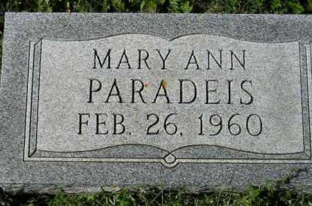 PARADEIS, MARY ANN - Hanson County, South Dakota   MARY ANN PARADEIS - South Dakota Gravestone Photos