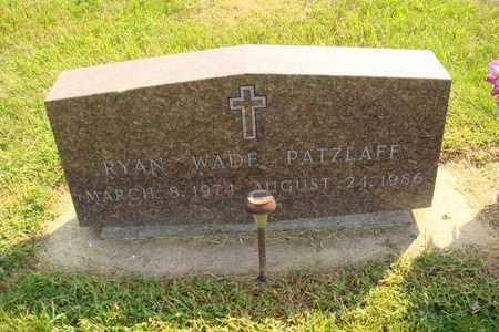 PATZLAFF, RYAN WADE - Hanson County, South Dakota | RYAN WADE PATZLAFF - South Dakota Gravestone Photos