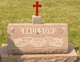 PAULSON, HENRY T. - Hanson County, South Dakota   HENRY T. PAULSON - South Dakota Gravestone Photos