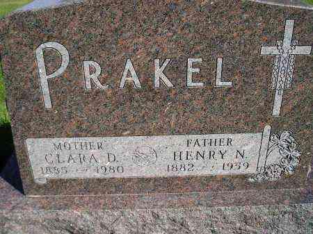 PRAKEL, HENRY N. - Hanson County, South Dakota | HENRY N. PRAKEL - South Dakota Gravestone Photos