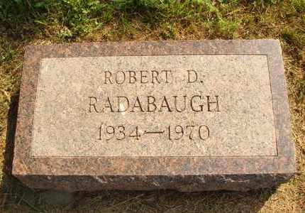 RADABAUGH, ROBERT D. - Hanson County, South Dakota | ROBERT D. RADABAUGH - South Dakota Gravestone Photos