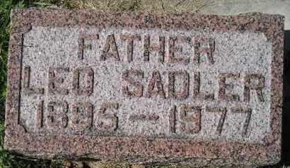 SADLER, LEO - Hanson County, South Dakota | LEO SADLER - South Dakota Gravestone Photos