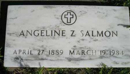 SALMON, ANGELINE Z. - Hanson County, South Dakota | ANGELINE Z. SALMON - South Dakota Gravestone Photos