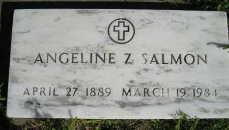 SALMON, ANGELINE Z. - Hanson County, South Dakota   ANGELINE Z. SALMON - South Dakota Gravestone Photos