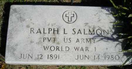 SALMON, RALPH L. - Hanson County, South Dakota | RALPH L. SALMON - South Dakota Gravestone Photos