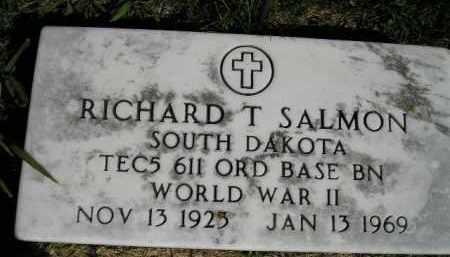 SALMON, RICHARD T. - Hanson County, South Dakota | RICHARD T. SALMON - South Dakota Gravestone Photos