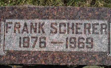 SCHERER, FRANK - Hanson County, South Dakota | FRANK SCHERER - South Dakota Gravestone Photos