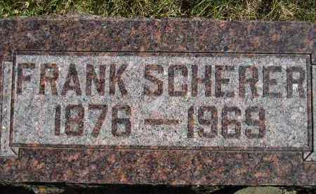 SCHERER, FRANK - Hanson County, South Dakota   FRANK SCHERER - South Dakota Gravestone Photos