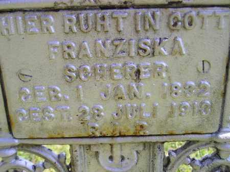 SCHERER, FRANZISKA - Hanson County, South Dakota | FRANZISKA SCHERER - South Dakota Gravestone Photos