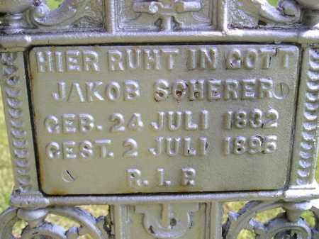 SCHERER, JAKOB - Hanson County, South Dakota   JAKOB SCHERER - South Dakota Gravestone Photos