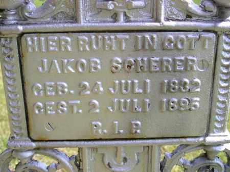 SCHERER, JAKOB - Hanson County, South Dakota | JAKOB SCHERER - South Dakota Gravestone Photos