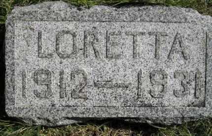 SCHERER, LORETTA - Hanson County, South Dakota   LORETTA SCHERER - South Dakota Gravestone Photos