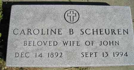SCHEUREN, CAROLINE B. - Hanson County, South Dakota | CAROLINE B. SCHEUREN - South Dakota Gravestone Photos