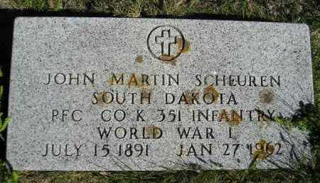 SCHEUREN, JOHN MARTIN - Hanson County, South Dakota | JOHN MARTIN SCHEUREN - South Dakota Gravestone Photos
