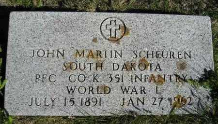 SCHEUREN, JOHN MARTIN - Hanson County, South Dakota | JOHN MARTIN SCHEUREN - South Dakota Gravestone Photos