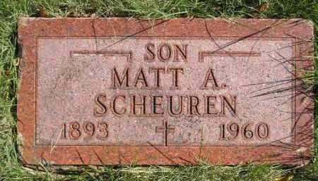 SCHEUREN, MATT A. - Hanson County, South Dakota | MATT A. SCHEUREN - South Dakota Gravestone Photos