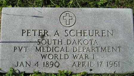 SCHEUREN, PETER A. - Hanson County, South Dakota | PETER A. SCHEUREN - South Dakota Gravestone Photos