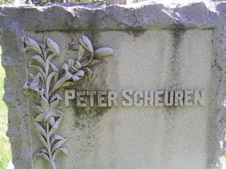 SCHEUREN, PETER - Hanson County, South Dakota | PETER SCHEUREN - South Dakota Gravestone Photos