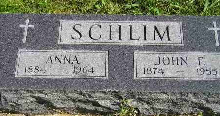 SCHLIM, JOHN F. - Hanson County, South Dakota | JOHN F. SCHLIM - South Dakota Gravestone Photos