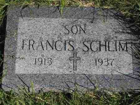 SCHLIM, FRANCIS - Hanson County, South Dakota | FRANCIS SCHLIM - South Dakota Gravestone Photos