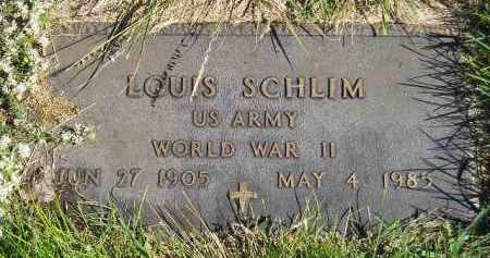 SCHLIM, LOUIS (WW II) - Hanson County, South Dakota | LOUIS (WW II) SCHLIM - South Dakota Gravestone Photos