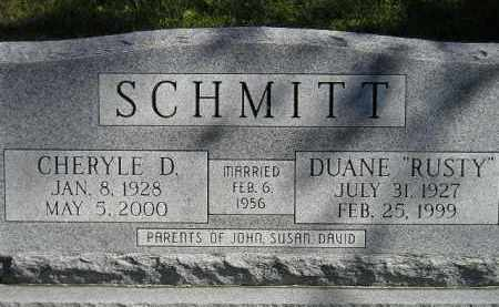 SCHMITT, CHERYLE D. - Hanson County, South Dakota | CHERYLE D. SCHMITT - South Dakota Gravestone Photos