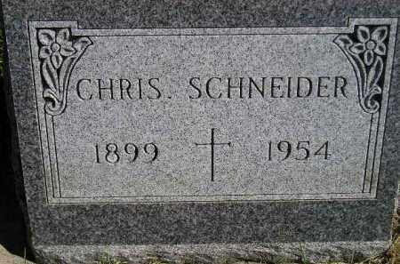 SCHNEIDER, CHRIS - Hanson County, South Dakota   CHRIS SCHNEIDER - South Dakota Gravestone Photos