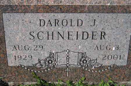 SCHNEIDER, DAROLD J. - Hanson County, South Dakota | DAROLD J. SCHNEIDER - South Dakota Gravestone Photos