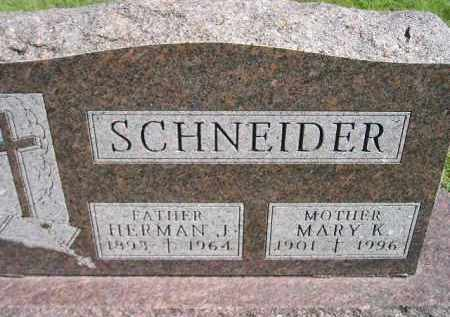SCHNEIDER, MARY K. - Hanson County, South Dakota | MARY K. SCHNEIDER - South Dakota Gravestone Photos