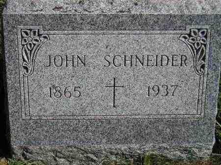 SCHNEIDER, JOHN - Hanson County, South Dakota   JOHN SCHNEIDER - South Dakota Gravestone Photos