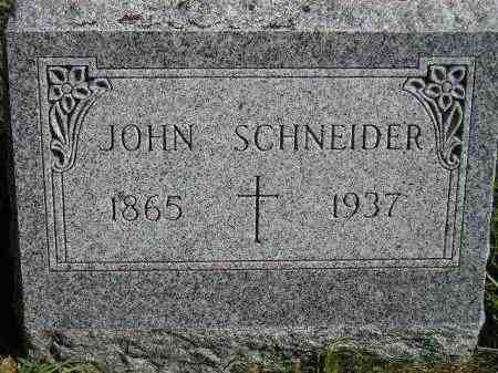 SCHNEIDER, JOHN - Hanson County, South Dakota | JOHN SCHNEIDER - South Dakota Gravestone Photos
