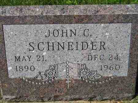 SCHNEIDER, JOHN C. - Hanson County, South Dakota | JOHN C. SCHNEIDER - South Dakota Gravestone Photos